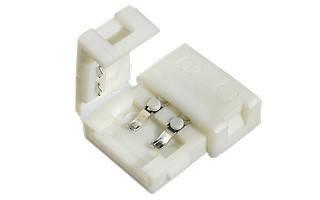 Коннектор для одноцветной светодиодной ленты №1 8мм (3528) зажим-зажим Код.57331, фото 2
