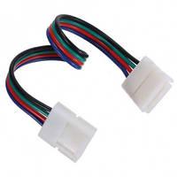 Коннектор для RGB светодиодной ленты №9 10мм (5050)провод-2зажима Код.57337