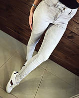 Модные джинсы в стиле скини,светло серые,Турция