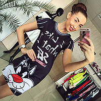 """Модное, оригинальное платье -  мини """"Котик"""" хорошего качества"""