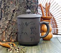 Кружка заварник из исинской глины