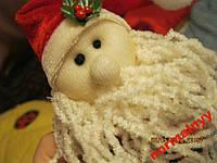 Дед мороз САНТА мягкая игрушка брелок на сумку или ключи  фирменный сувенир из Британии