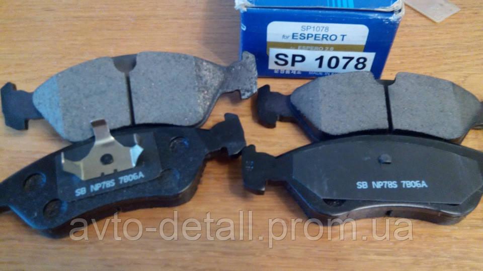 Колодки гальмівні передні Есперо, ASTRA, CALIBRA, VECTRA В Hi-Q SP1078 (Корея)