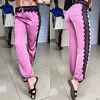 """Красивые, женские штаны в восточном стиле """"Мягкий шелк и французское кружево"""" РАЗНЫЕ ЦВЕТА"""