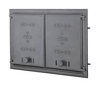 Двустворчатая дверца печи (67,5х48 см/61х41,5 см)