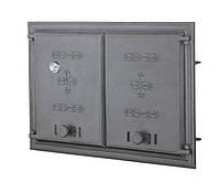 Двустворчатая дверца печи с термометром (67,5х48 см/61х41,5 см)