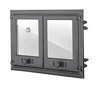 Двустворчатая дверца с термометром и стеклом (67,5х48 см/61х41,5 см)