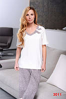 Пижама женская Dobra Nocka 3011 большые размеры (женская одежда для сна, дома и отдыха, домашняя одежда)