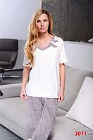 Пижама женская Dobra Nocka 3011 большые размеры (женская одежда для сна, дома и отдыха, домашняя одежда), фото 1