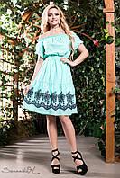"""Красивое женское платье выше колен """"Ткань батист с вышивкой"""" РАЗНЫЕ ЦВЕТА!"""