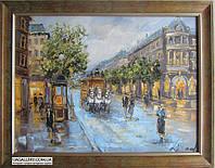 Городской пейзаж картина маслом (авторская), фото 1