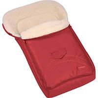 Зимний конверт-мешок Womar №8 на овчине красный 661