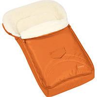 Зимний конверт-мешок Womar №8 на овчине оранжевый 665