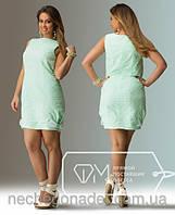 """Красивое летнее платье из натуральной ткани """"Прошва+лен"""""""