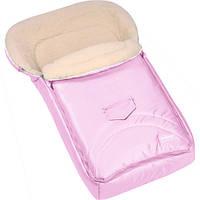 Зимний конверт-мешок Womar №8 на овчине розовый 667