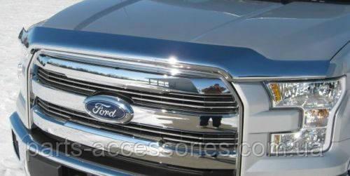 Хромовый дефлектор на капот Ford F150 2015-2016 новый оригинальный