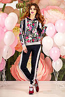 """Комфортный стильный женский спортивный костюм """"Модный цветочный рисунок"""" РАЗНЫЕ ЦВЕТА!"""