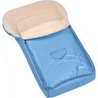 Зимний конверт-мешок Womar №8 на овчине ярко голубой 675