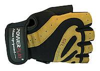Перчатки спортивные, для зала PowerPlay Перчатки MENS 1584 /GEL / XL / black-brown /