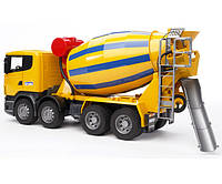 Ирушка - бетоновоз SCANIA R-series жёлтый, М1:16 03554 (25114)