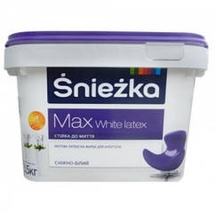 Латексная моющаяся краска Sniezka Max Latex 1.4кг – для стен и потолков