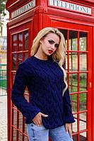 Качественный вязанный теплый женский свитер