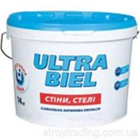 Ультра-белая краска Sniezka Ultra Biel 1.4кг – для потолков (не моется)
