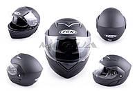"""Шлем трансформер   """"FGN""""   (mod:111) (size:XL, черный матовый, + солнцезащитные очки)"""