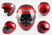"""Шлем трансформер   """"FGN""""   (mod:688) (size:XL, красный, солнцезашитные очки)"""