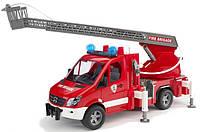 Игрушка - пожарный МВ Sprinter с лестницей (+водяная помпа+свет и звук), М1:16  02532 (10563)