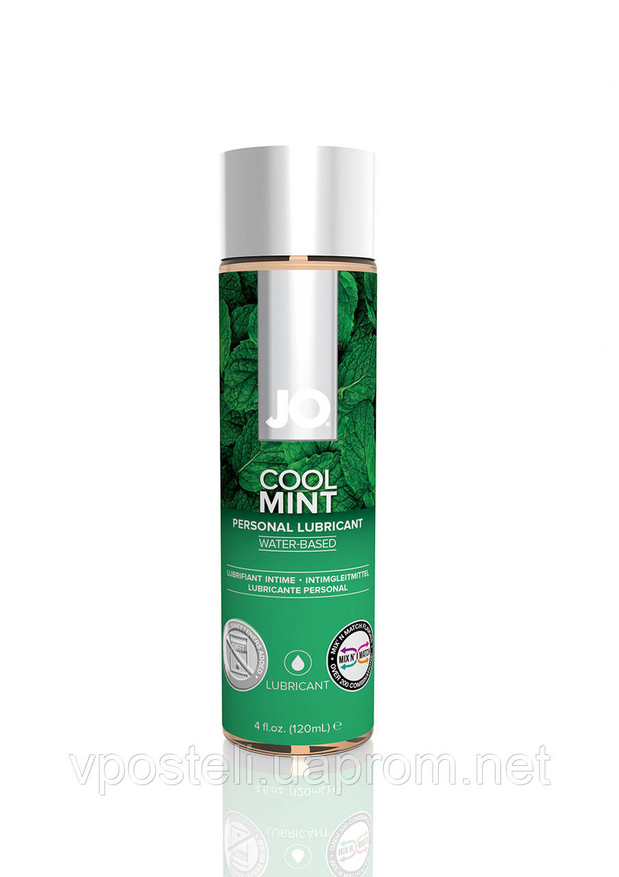 Интимный лубрикант JO, H2O Lubricant Cool Mint, 120 мл