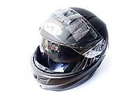 """Шлем трансформер   """"VR-1""""   (mod:903) (size:L, черный матовый)   (#VL)   (Тайвань)"""