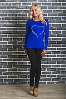 Модная женская туника синяя