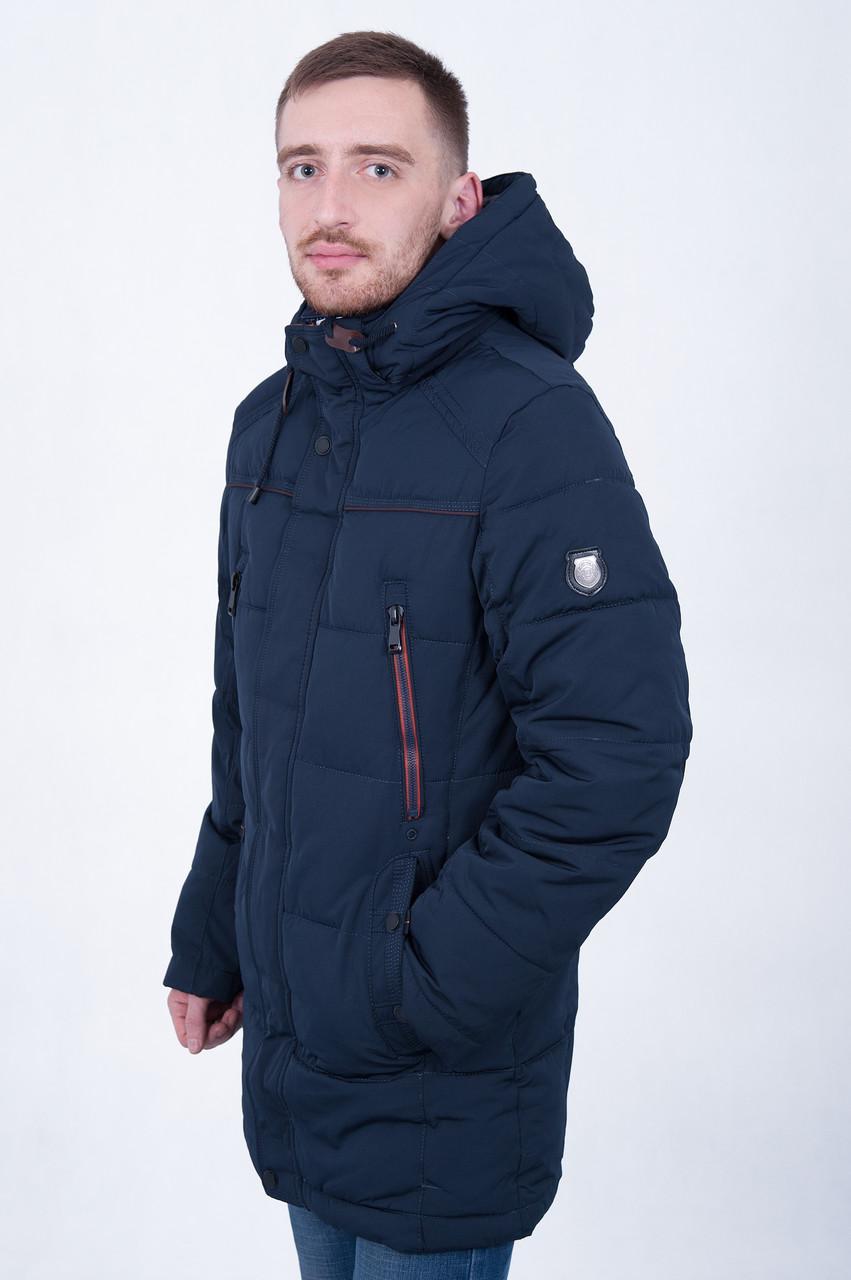 Чоловіча зимова куртка, синього кольору.