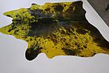 Шкура коровы желтая с коричневыми пятнами, фото 3