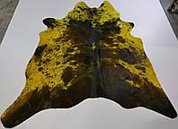 Шкура коровы желтая с коричневыми пятнами