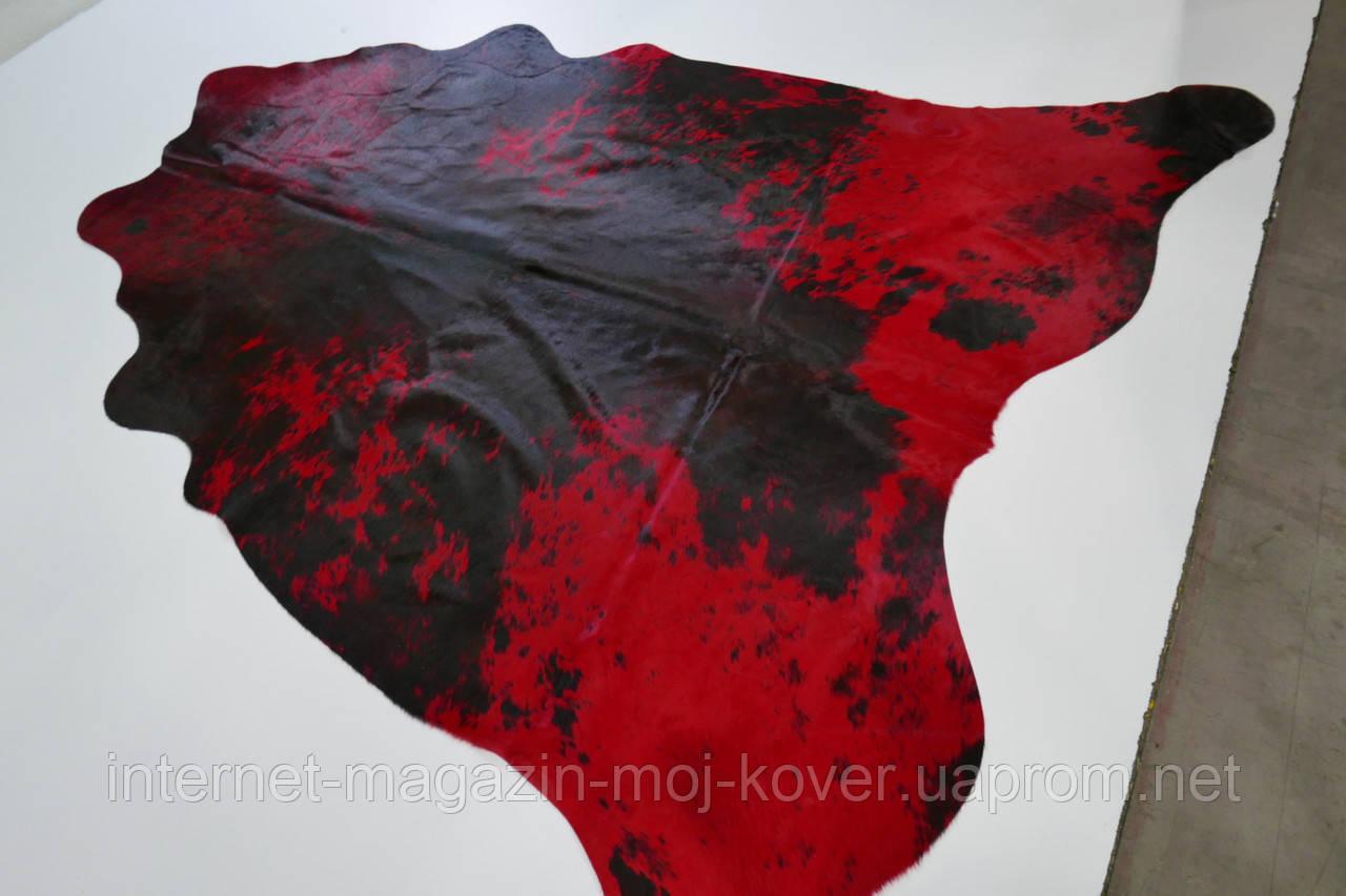 Красно черная шкура ковер для украшения дома
