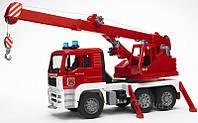 Игрушка - пожарный грузовик с лестницей (+водяная помпа+свет и звук), М1:16 02771 (10580)
