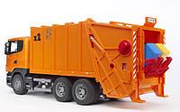 Игрушка - мусоровоз SCANIA R-R-series, оранжевый, М1:16 03560 (35403)