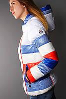 Куртка женская белая с синим
