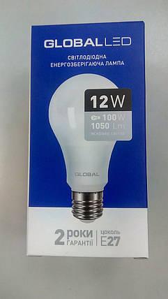 Лампа светодиодная GLOBAL LED, MAXUS, А100 12W Е27, яркий свет, фото 2