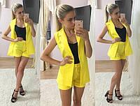 Ультра модный костюм короткие шорты и удлиненный жилет РАЗНЫЕ ЦВЕТА!