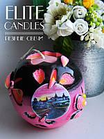 Свеча шар с Вашим логотипом, фото, надписью. Оригинально индивидуально под заказ