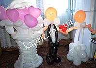 Подарок на свадьбу из шаров