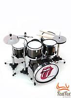 Мини барабанная установка сувенирная Rolling Stones