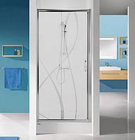 Дверь в нишу 120 см Sanplast D2/TX5-120-S sb W15 профиль хром, стекло с узором