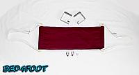 На подарок офисный гамак для ног (бордовый) - bed4foot