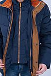Чоловіча зимова куртка синього кольору., фото 4