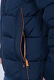 Чоловіча зимова куртка синього кольору., фото 5