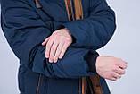 Чоловіча зимова куртка синього кольору., фото 7